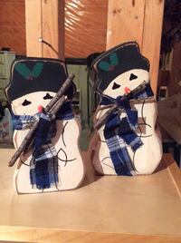 two snowman figurines