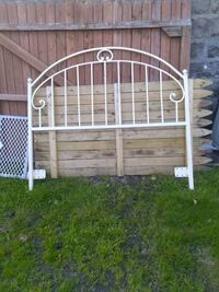 white metal bed frame and white mattress Marcus Hook, 19061