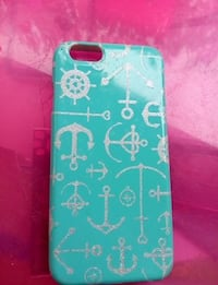 teal and white anchor phone case San Diego, 92126