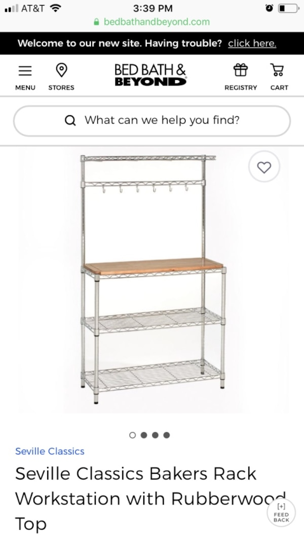 Baker's Rack. i only have internet pix because mine is disassembled for moving. It's not new, but is in good condition