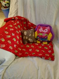 2 owl pillows and pillow case Omaha, 68106