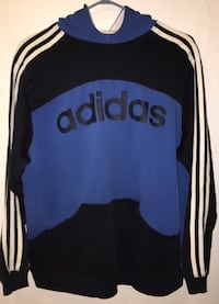 Blue,black,and stripped white Adidas Hoodie Victoria, V8X 1A6