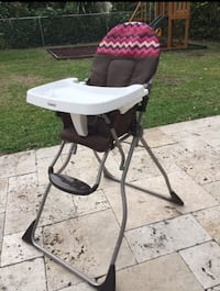 baby's white and black high chair Coral Gables, 33134
