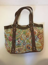 brown and green floral tote bag Mishawaka, 46544