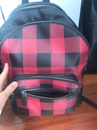 Red and black leather coach backpack Montréal, H2S 3S3