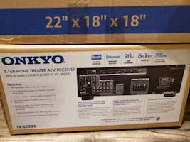 Brand New Onkyo 5.1 Receiver.  Have speakers brand new in box $50.00.