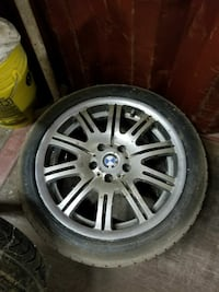 BMW E46 M3 wheels and like new tires.  Hedgesville, 25427