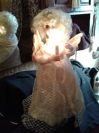 "NOW $40***24"" ANIMATED CHRISTMAS ANGEL with LIGHTED CANDLE*IF AD'S UP, IT'S STILL AVAILABLE"