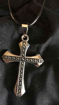 Boys stainless steel cross with leather chain Virginia Beach, 23451