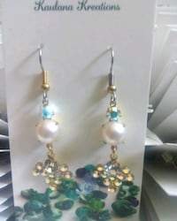 Swarovski Crystals with Cultured pearls Earrings P?hoa, 96778