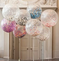 Colorful confetti balloon. For any occasion.  Ocean Springs, 39564