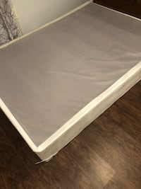 Full size box spring with rails