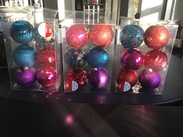 Brand new Christmas large balls from Michaels.Sold separately. Deliver