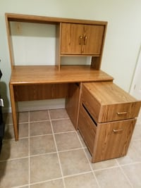 brown wooden desk with hutch Manassas