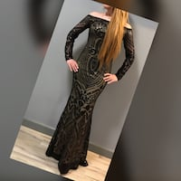 Sequin black evening dress Waterloo, N2L 3V2