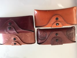 4 MENS NEWLEATHER GLASS  CASES