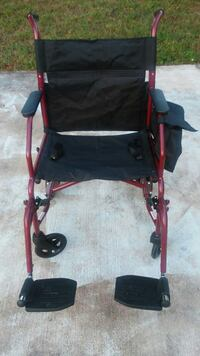 black and red wheelchair