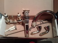 New boxed Delta Stainless steel faucets (pair) bath taps Toronto, M5B 1H3