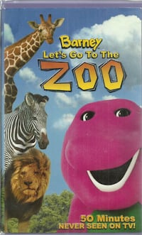 vhs  Barney - Lets Go to the Zoo  (VHS, 2001)   Barney And Friends Bar