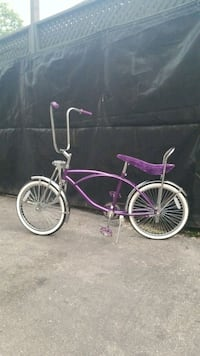 purple and white cruiser bike Toronto, M9N 1P6