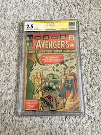 Avengers #1 stan lee comic book New York, 11375