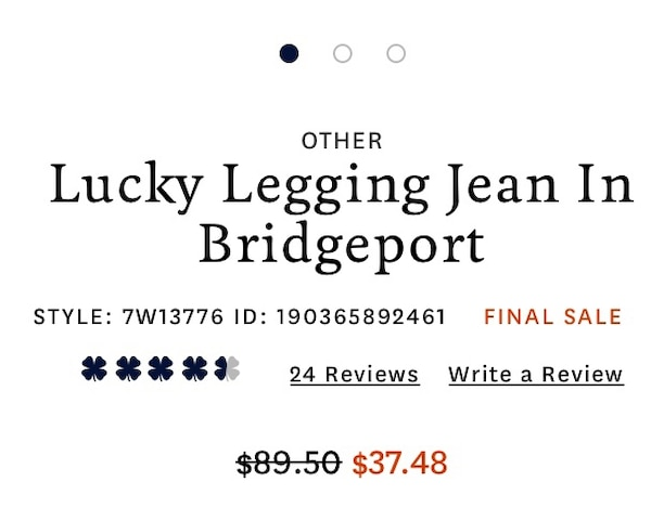 c4970a43418ce Used Lucky Legging Jeans in Bridgeport for sale in Folsom - letgo