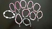 white-and-pink lokai bracelets