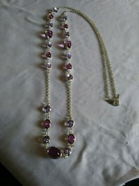 "Brand New 34"" solid 925 sterling silver amethyst b Manchester, 17345"