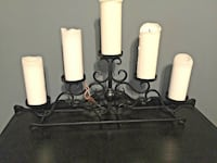 Classic Set of Two Black Wrought Iron Candelabras; Great Holiday Decor or Gift! Randallstown