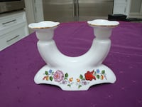 Candle holder with gold trim. East Gwillimbury
