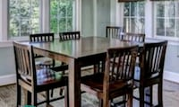 brown wooden dining table set Ashburn