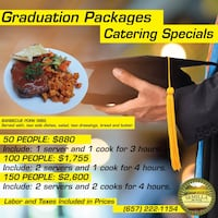 Wedding catering packages, graduation, quinceañera Santa Ana