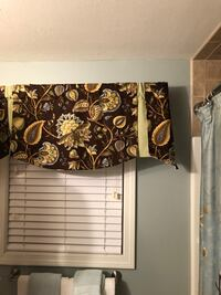 Custom made lined valances, gorgeous colors
