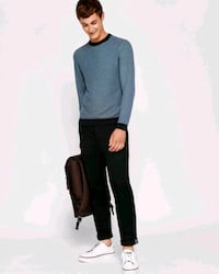 Ted Baker Coftini Crew Neck Knitted Sweater - Blue