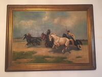 Large European oil painting by famous artist