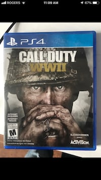 PS4 Call of Duty WWII case Kitchener, N2B 3X6