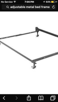 Black metal adjustable bed frame Winnipeg, R2L 0X1
