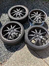 Black Falcon rims + 2 tires Surrey, V3T 2C2
