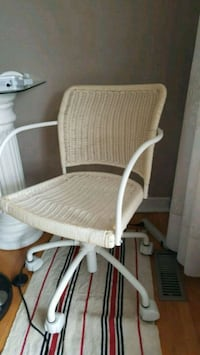 Wicker rattan office chair on wheels Toronto, M1W 1C9