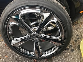 Muscle car rims and tires for sale!!