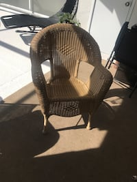 brown wicker armchair with ottoman Fort Myers, 33908