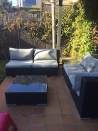 5 seats and 2 side tables MADRID