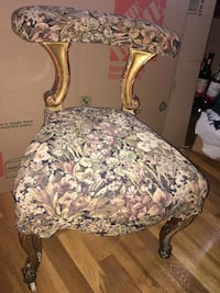 Antique vintage upholstered tiny rolling chair $100 North Babylon, 11703