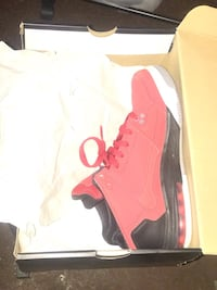 Red suede Jordan's new in box size 7y