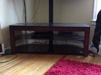 black wooden TV stand with mount Magnolia, 08049