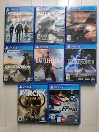 Good as new PS4 games for sale- 10$ each/ Plateau Montreal area