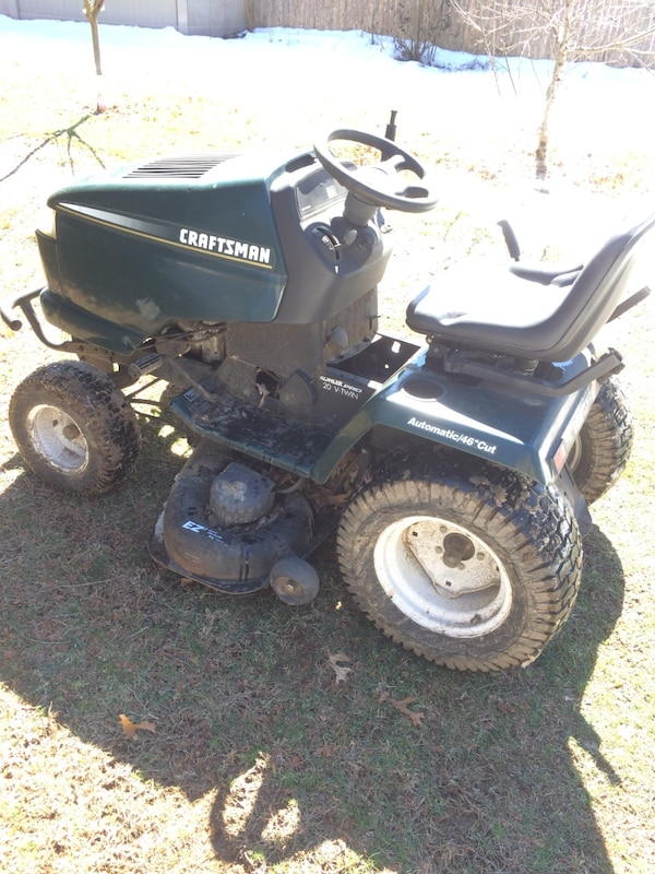 Used Normal Wear Craftsman Gt 5000 26 Hp Briggs And Stratton Engine Hydrostatic Transaxle 48 Inch Mowing Deck New Spark Plugs Air Fuel