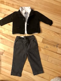 black zip-up jacket and pants 788 km