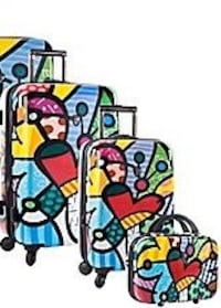 "Heys Britto hard side sided luggage set 26"", 21"" and beauty bag suitcase BRAND NEW IN BOX!!!! Brooklyn Park, 55445"