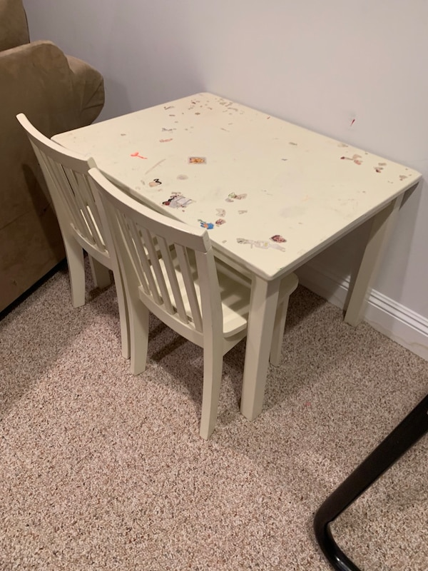 Used Pottery Barn Kids Table Amp 2 Chairs For Sale In